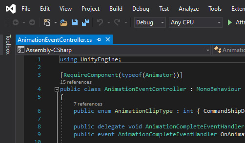 Visual Studio - Dark Theme