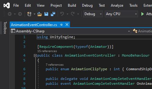 Visual Studio - Dark Theme